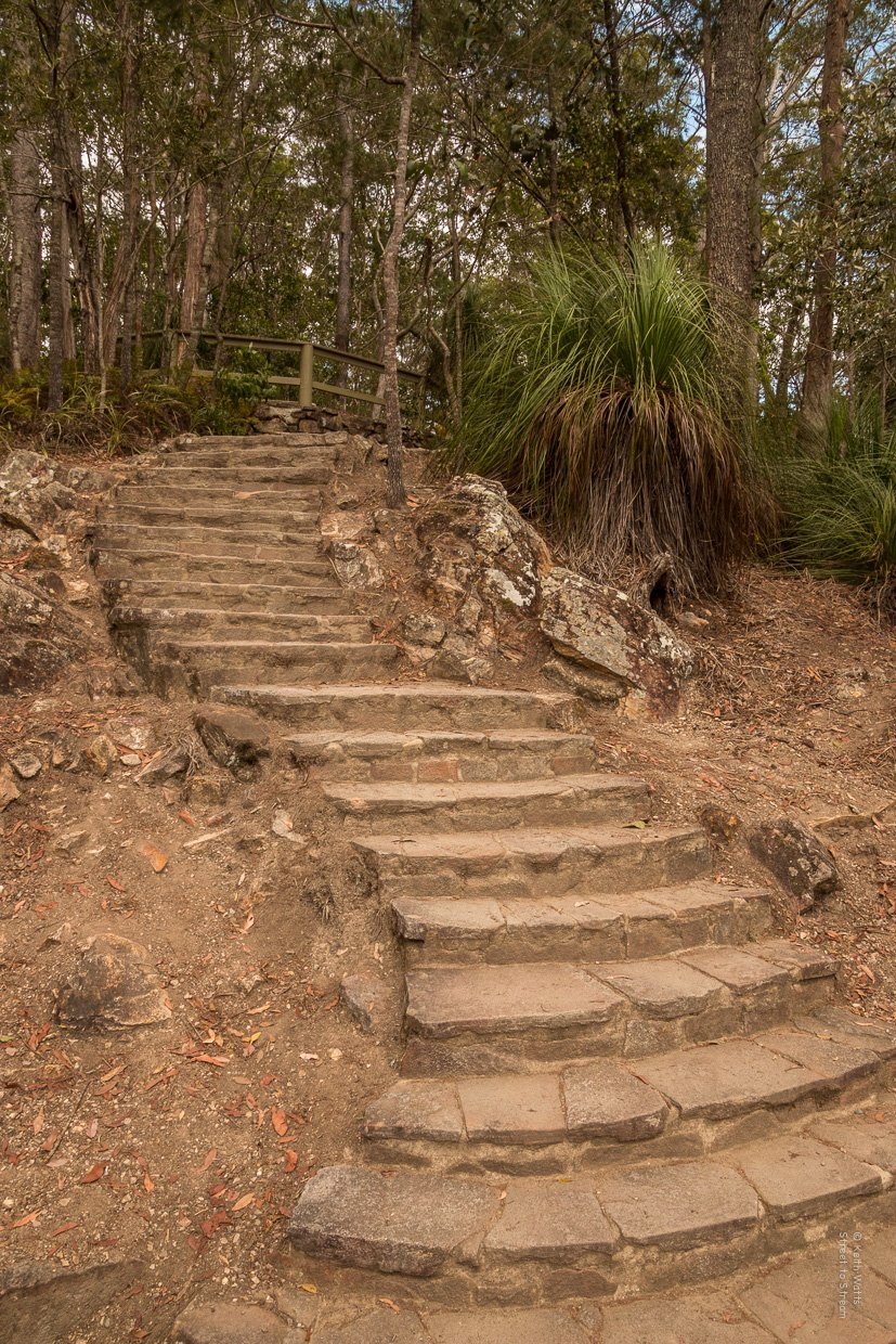 Well formed steps help the traveller along the way